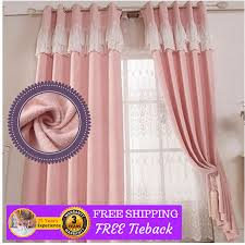 Pink And Purple Curtains Pink Fabric Curtains Grommet Window Bedroom Door Drapes Sheer