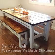 7 ft farmhouse table with 4 x 4 legs 6 ft bench u0026 5 handmade