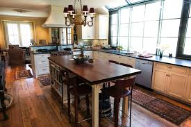 kitchen narrow square kitchen island with butcher block top and