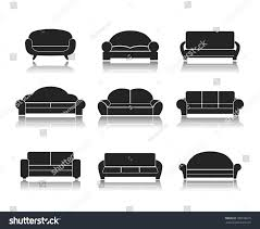 Couch Furniture Modern Luxury Sofas Couches Furniture Icons Stock Vector 180518615