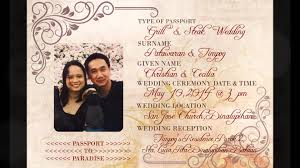 christian u0026 cecilia wedding invitation youtube