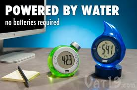 bedol water powered alarm clocks they run solely on tap water