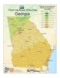 State Of Georgia Map by How To Use The Usda Planting Zone Hardiness Map