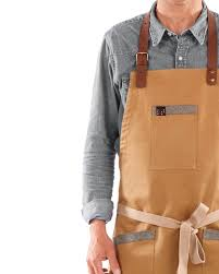 Designer Kitchen Aprons by Design Apron With Leather Straps Casual Look Aprons Barista