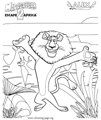 Madagascar Alex Lion Coloring