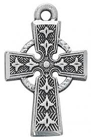 celtic crucifix antique silver celtic cross