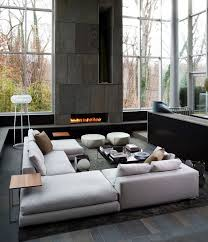 contemporary livingroom 27 mesmerizing minimalist fireplace ideas for your living room