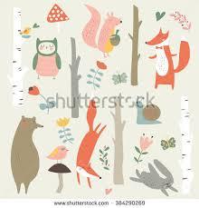 cute trees fox cartoon stock images royalty free images u0026 vectors shutterstock