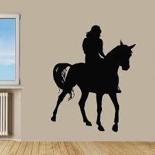 popular wild horse wall mural buy cheap wild horse wall mural lots horse riding decal car poster vinyl wall decals pegatina quadro parede decor mural wild animal sticker