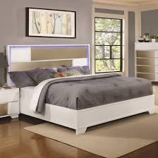 Alaskan King Bed Coaster 204741kw Two Tone Cal Size With Led