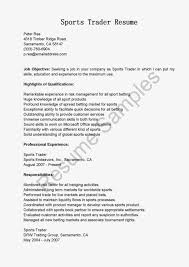 Resume Samples Product Manager by Resume Samples Sports Trader Resume Sample