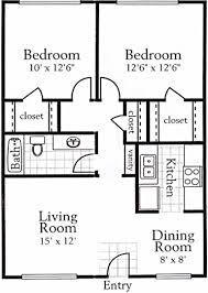 2 bedroom 1 bath floor plans warner alan properties park at westover floor plans