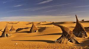 straw huts on sahara desert libya windows 10 spotlight images