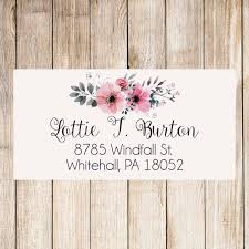 floral return address labels address labels flowers