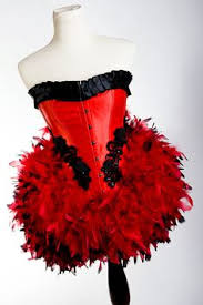 Las Vegas Showgirl Halloween Costume Moulin Rouge Burlesque Costume Halloween Costume