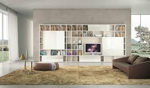 livingroom shelves modern living room ideas with brown shelving