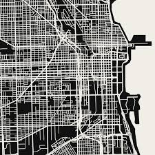 Chicago Downtown Map by Chicago Map Art Print Mr City Printing Touch Of Modern