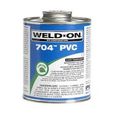 weld on pvc 704 16 oz medium cement in clear 12124 the home depot