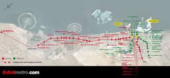 Dubai Metro Map by Dubai Metro Rises In The Desert