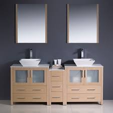 Bathroom Vanity With Side Cabinet 72 Torino Vessel Sink Bathroom Vanity With Side Cabinet