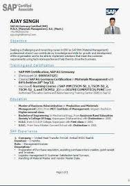 Sap Basis Resume 2 Years Experience Resume Sap Basis 28 Images Sap Basis Administrator Resume