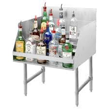 liquor table advance tabco ld 2112 stainless steel liquor display rack 12