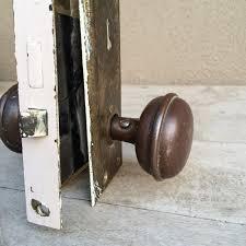Brass Door Knobs 1930s Brass Door Knob Set With Plates And Lock Industrial