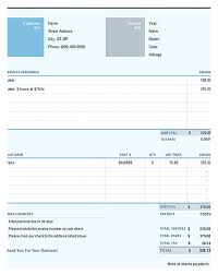 free invoice template download you can customize as you need