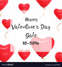 valentines sale valentines day sale web banner of vector image