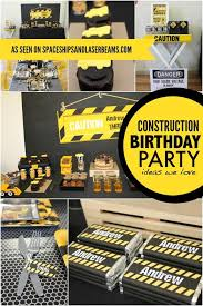 construction party ideas a creative construction themed birthday party spaceships and