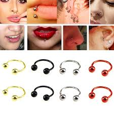 nose rings ball images Suti sale 2 pcs stainless steel nostril nose ring lip rings jpg