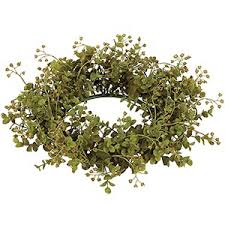 Candle Rings 6 Inch Eucalyptus Candle Ring Leafy Stems For All Seasons