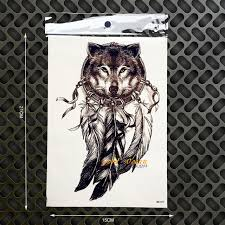Dreamcatcher Sleeve - aliexpress com buy 3d king wolf temporary