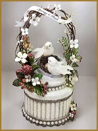 dove cake topper wedding minish designs