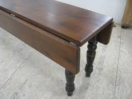 Wooden Drop Leaf Table Custom Made Rustic Old Oak Drop Leaf Table By Ecustomfinishes
