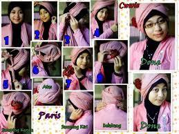 tutorial jilbab segi 4 untuk kebaya memakai jilbab segi empat simple modern