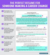 career change resume templates ideal resume for someone a career change business insider