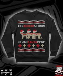 horror sweater the acacia strain ruin with the human santapede