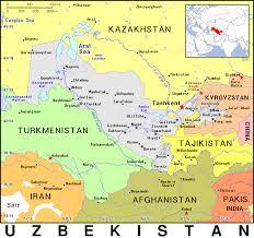 uzbekistan map in world uzbekistan uzb uz country map atlas