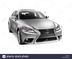 Silver 2016 Lexus Is 300 Awd Small Luxury Sedan Isolated Car On