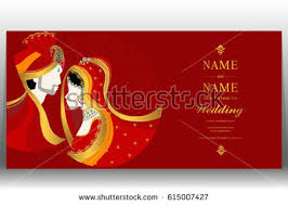 indian wedding card templates vector illustration indian wedding invitation card stock vector