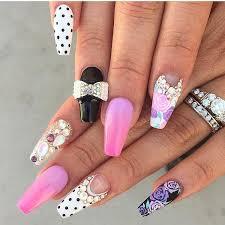 girly acrylic nail art design ideas sooper mag