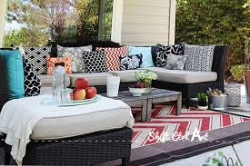 outdoor lounge area and patio reveal