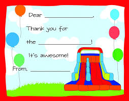 amazon com 20 bounce house kids fill in birthday thank you cards