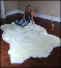 Faux Fur Area Rugs by White Faux Fur Area Rug Furniture Oh Furniture