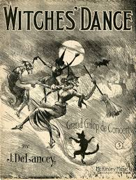 vintage witch illustration dancing witches disciplined streetsofsalem