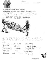 ancient egyptian sarcophagus handout art lesson handouts