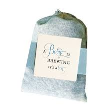 tea bag favors a baby is brewing shower tea bag favors sets of 9