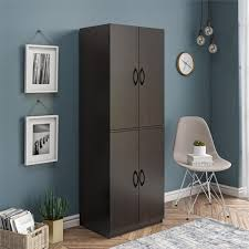 small kitchen cabinets walmart mainstays 4 door storage cabinet chocolate