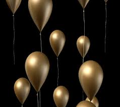 gold balloons gold balloons stock footage